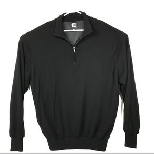 Footjoy FJ Mens XXL Black Argyle Wool Golf Sweater